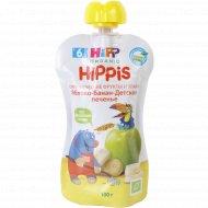 Пюре фруктовое «Hippis» яблоко-банан- детское печенье, 100 г, 6+.