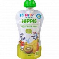 Пюре «Hippis» груша, банан, киви, 100 г.