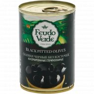 Оливки черные «Feudo Veide» без косточки, 280 г.