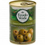 Оливки зеленые «Feudo Veide» без косточки, 280 г.