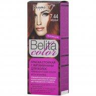 Краска стойкая для волос «Belita сolor» 7.44, медный.