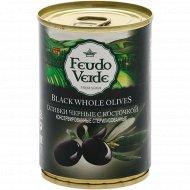 Оливки черные «Feudo Veide» с косточкой, 280 г.