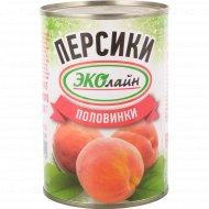 Персики консервированные в сиропе, половинки, 410 г.