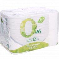 Туалетная бумага «Ova» 3 слоя, 12 рулонов.