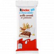 Шоколад молочный «Kinder Country» со злаками и молочно-злаковой начинкой, 23.5 г.