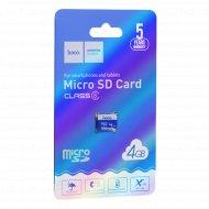 Карта памяти «Hoco» microSD, 4GB, class 6.