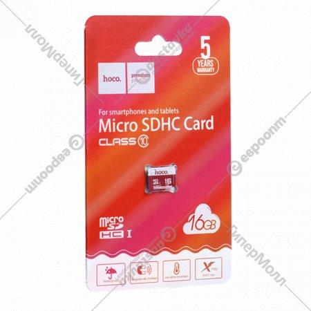 Карта памяти «Hoco» microSDHC, 16GB, class 10.