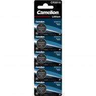 Комплект батареек «Camelion» CR2016-BP5B, 5 шт