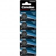 Комплект батареек «Camelion» CR2025-BP5B, 5 шт