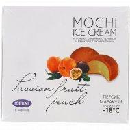 Мороженое сливочное «Моджи» с персиком и маракуйей в рисовой глазури, 300 гр.