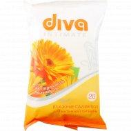 Салфетки влажные «Diva» для интимной гигиены, 20 шт.