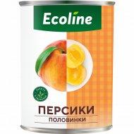 Персики «Эколайн» половинки, пастеризованные, 410 г
