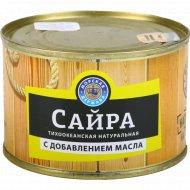 Рыбные консервы «Морская Держава» сайра, 250 г.