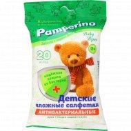 Салфетки влажные детские «Pamperino» №2 антибактериальные, 20 шт.