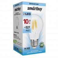 Лампа светодиодная «Smartbuy» FIL A60-10W-Е27-4000K.