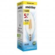 Лампа светодиодная «Smartbuy» FIL C37-5W-E14-3000K.