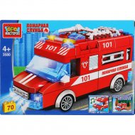 Конструктор «Город мастеров» Пожарная машина, 3580-ZH