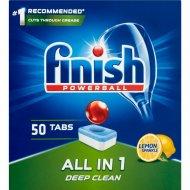 Таблетки для посудомоечных машин «Finish» All in 1, лимон, 50 шт