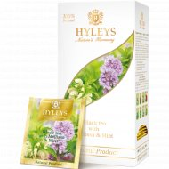 Чай черный «Hyleys» с мелиссой и мятой, 25 пакетиков.