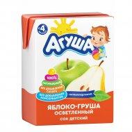 Сок «Агуша» яблочно-грушевый, 200 мл.