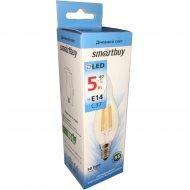 Лампа светодиодная «Smartbuy» cвеча на ветру, FIL C37-5W-E14-4000K.