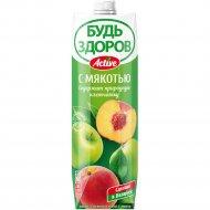 Нектар «Будь здоров!» яблочно-персиковый, 1 л.