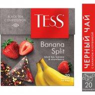 Чай черный «Tess» с бананом и клубникой, 20 х 1.8 г