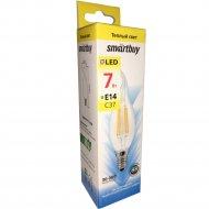 Лампа светодиодная «Smartbuy» cвеча на ветру, FIL C37-7W-E14-3000K.