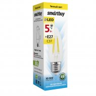 Лампа светодиодная «Smartbuy» FIL C37 5W E27 3000K.