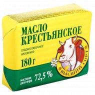 Масло сладкосливочное «Крестьянское» несоленое, 72.5 %, 180 г