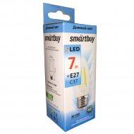 Лампа светодиодная «Smartbuy» FIL C37 7W E27 4000K.