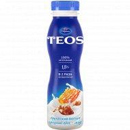 Йогурт греческий «Teos» грецкий орех-мёд, 1.8%, 300 г.