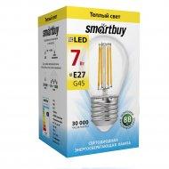 Лампа светодиодная «Smartbuy» FIL G45 7W E27 3000K.