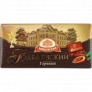 Шоколад «Бабаевский» горький, 100 г.