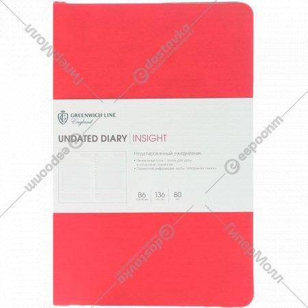 Ежедневник недатированный «Insight» В6, 136 листов.