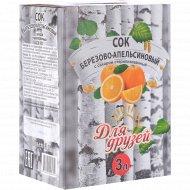 Сок березово-апельсиновый «Для друзей» 3 л