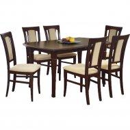 Обеденный стол «Halmar» Fryderyk 160/200, раскладной, темный орех