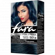 Крем-краска стойкая для волос «Fara Classic» тон 501а, иссиня-черный.