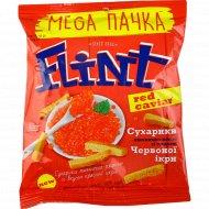 Сухарики пшенично-ржаные «Flint» со вкусом красной икры, 110 г.