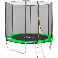 Батут «Happy Jump» 8ft Pro, с внешней сеткой и лестницей, 252 см