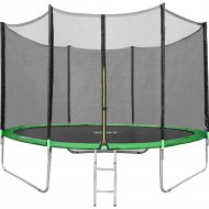 Батут «Happy Jump» 10ft Pro, с внешней сеткой и лестницей, 312 см