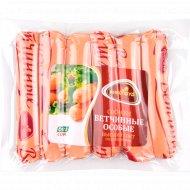 Сосиски из мяса птицы «Ветчинные особые» в/с, 1 кг., фасовка 0.5-0.7 кг