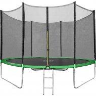 Батут «Happy Jump» 12ft Pro, с внешней сеткой и лестницей, 374 см