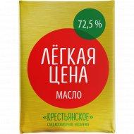 Масло сладкосливочное «Крестьянское» несоленое, 72.5%, 160 г