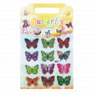 Декоративные наклейки бабочки, 12 шт.