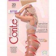 Колготки женские «Conte Elegant Active Soft» 20 den, bronz, 2.