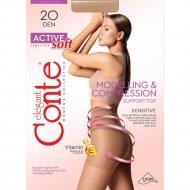 Колготки женские «Conte Elegant Active Soft» 20 den, bronz, 3.