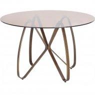 Стол обеденный «Halmar» Lungo, коричневый/античное золото