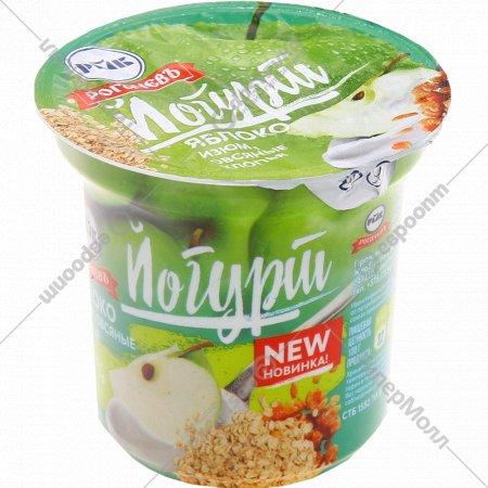 Йогурт с наполнителем «Яблоко, изюм, овсяные хлопья» 1.5%, 140 г.