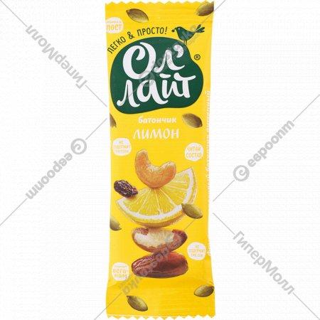 Батончик фруктово-ореховый «Ол'Лайт» лимон, 30 г